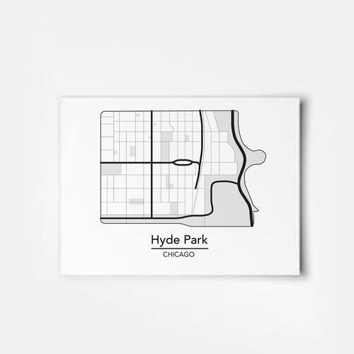 Hyde Park Map 5x7