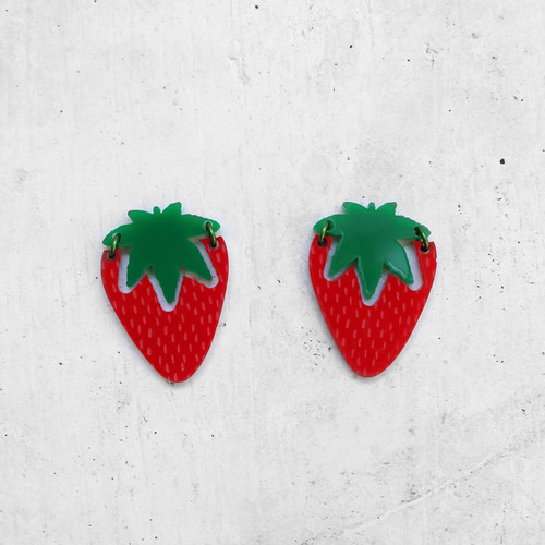 Acrylic Strawberry Earrings