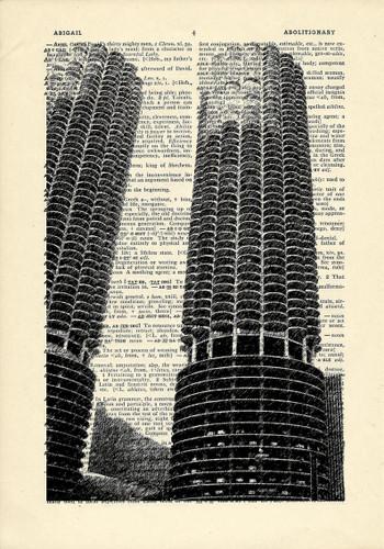 Marina City Dictionary Print