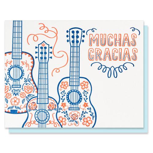 Muchas Gracias Guitars Thank You Card