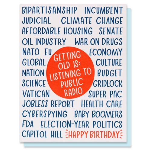 Public Radio Birthday Card
