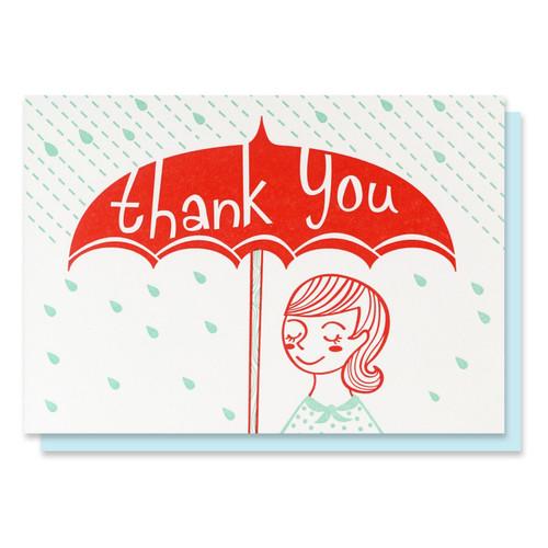 Thank You Umbrella Card