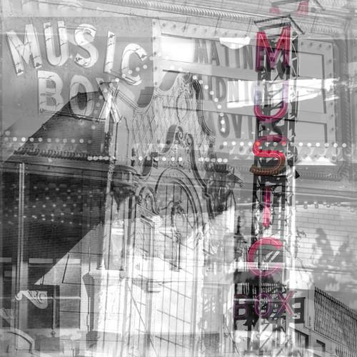 "Music Box Theater 6"" Square Wood Panel Print"