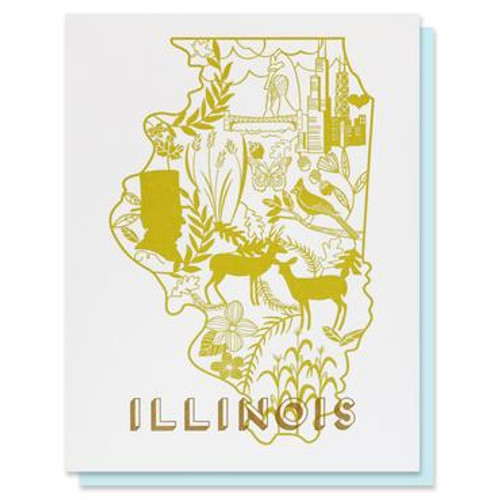 Illinois Letterpress Card