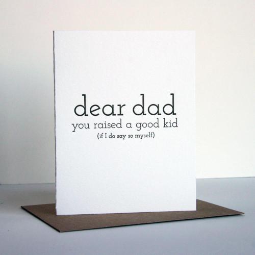 Dad Good Kid Card