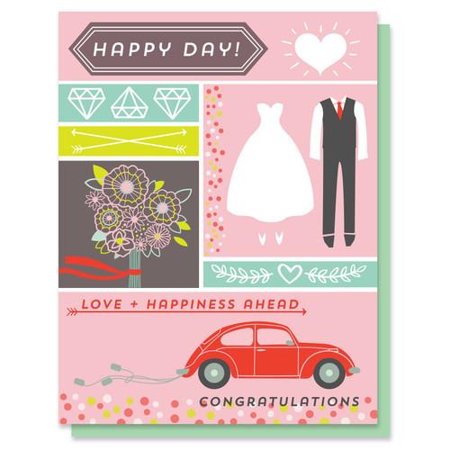 Oh Happy Day Wedding Card
