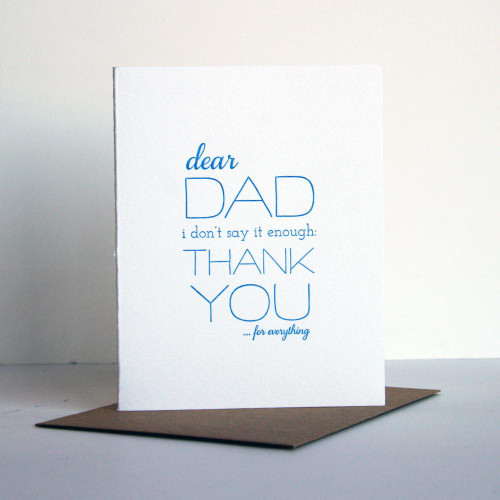 Dad Thanks Card