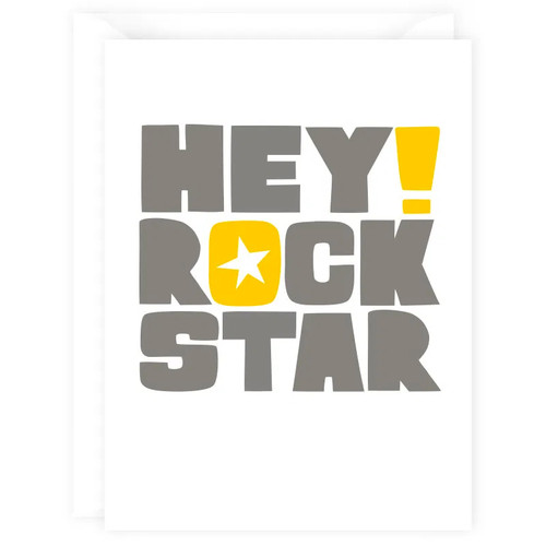 Hey Rock Star Card