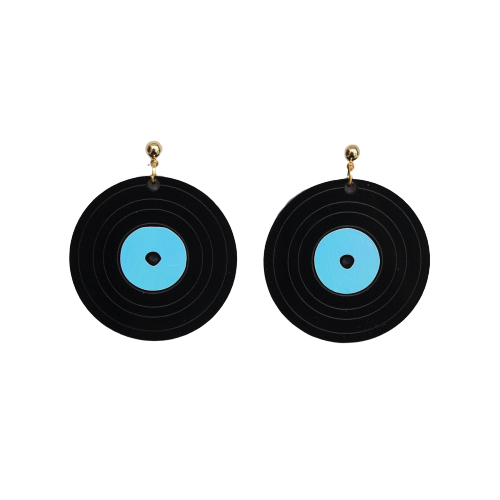 Acrylic Record Earrings