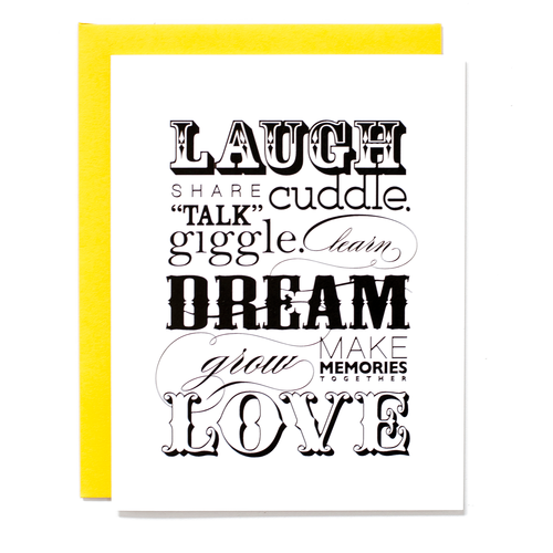 Laugh Dream Love Card