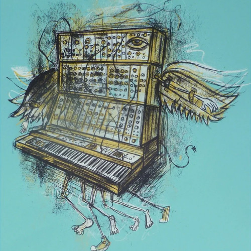 This is a print made for the SYNTH art show at Moogfest 2012. Part of the edition was sold there to benefit the Bob Moog Foundation and its Education programs.