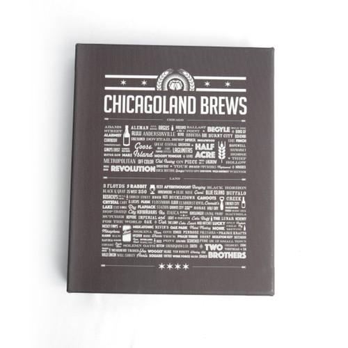 Chicagoland Brews 8x10 Wood Block Canvas Print