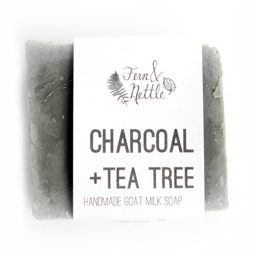 Charcoal + Tea Tree Goat Milk Soap