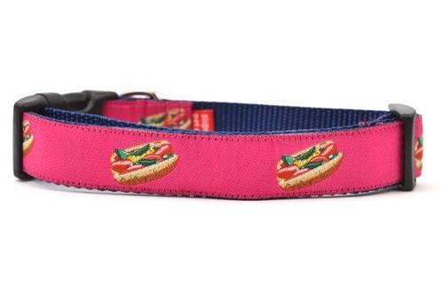 "Hot Dog Collar Pink - Medium 13 - 20"""