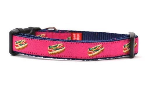 """Hot Dog Collar Pink - Sm 10-16"""""""