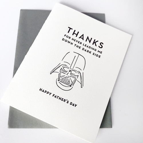 Dark Side Father's Day Card