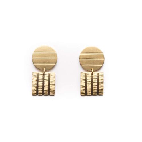 Striped Shapes Earrings