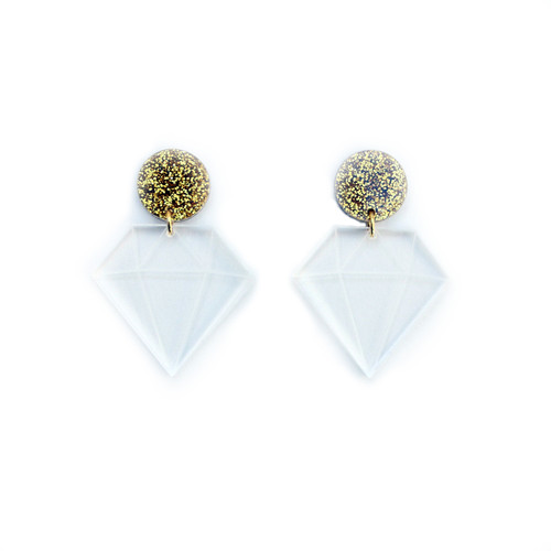 Acrylic Diamond Earrings