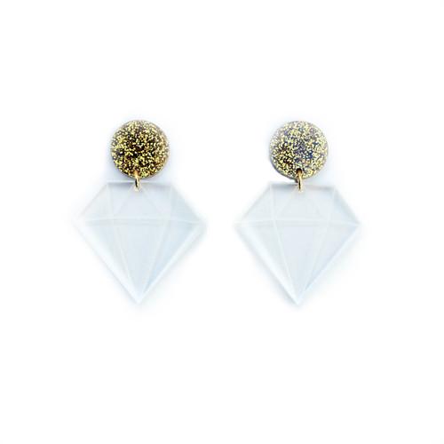 Acrylic Diamond Earrings
