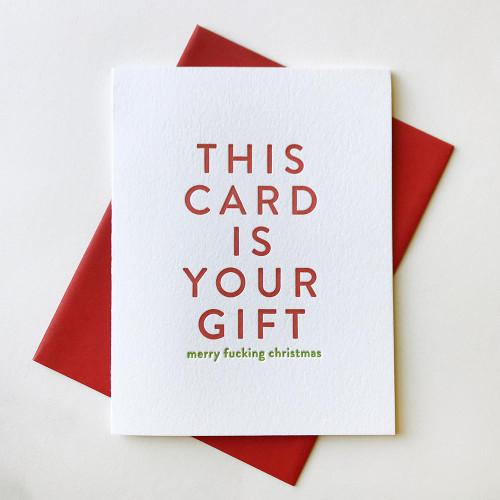 Your Gift Christmas Card