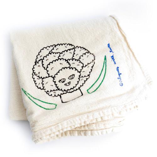 Cauliflower Tea Towel