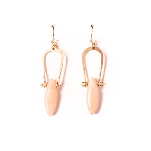 Pink Aventurine Amulet Earrings