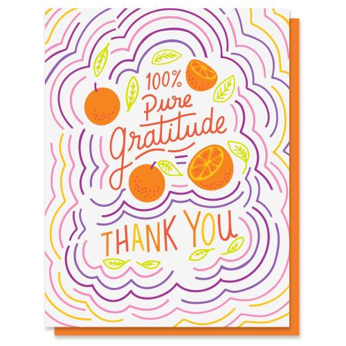 Pure Gratitude Card Thank You Card
