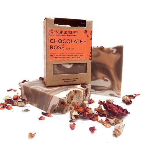 Chocolate + Rosé Soap
