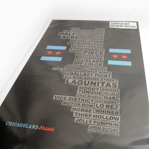 Scratch Off Chicagoland Brews 11x17 Poster