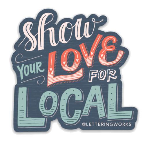 Love for Local Sticker