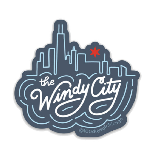 The Windy City Skyline Sticker