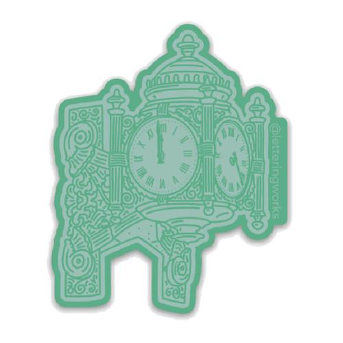 Chicago Clock Sticker