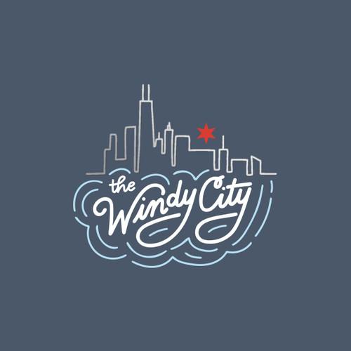 The Windy City 5x7 Foil Art Print