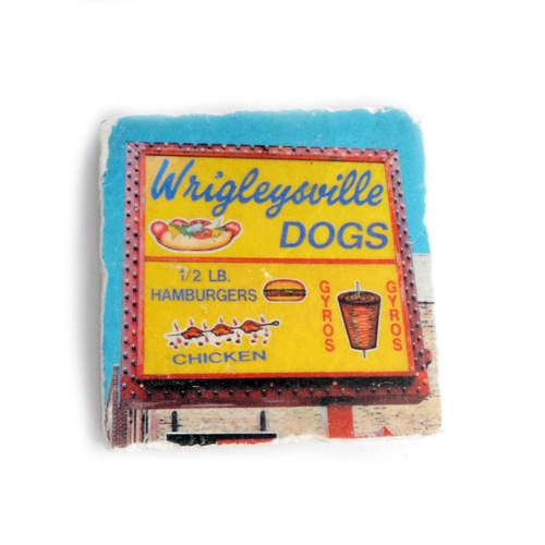 Wrigleyville Dogs Tile Coaster