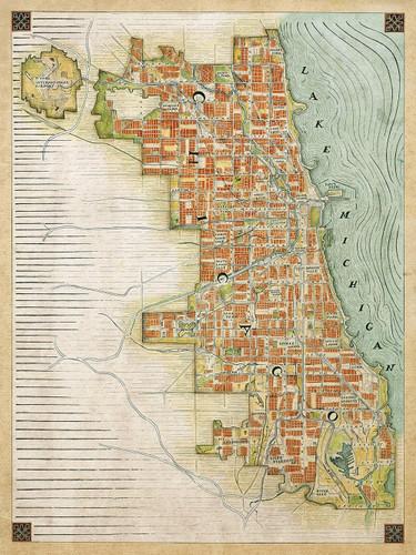 Chicago Renaissance Map Print