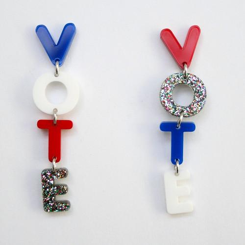 Acrylic VOTE Earrings