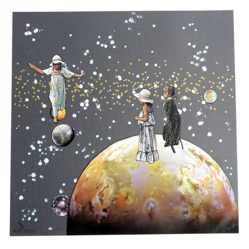Planet Hopscotch Original Collage