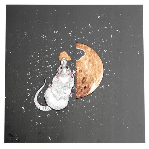 Year Of The Rat Original Collage