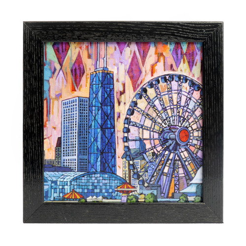 Navy Pier Ferris Wheel Box Frame Print