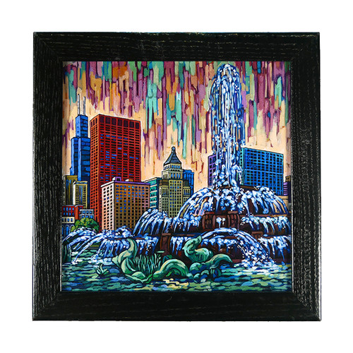 Buckingham Fountain Box Frame Print
