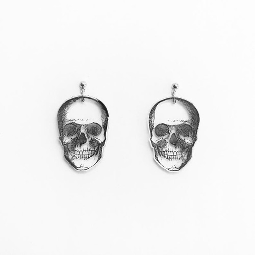 Acrylic Skull Earrings