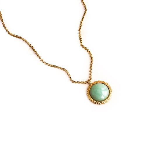 Green Aventurine Laurel Pendant Necklace