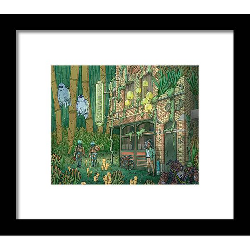 Schubas Tied House Framed Fine Art Print