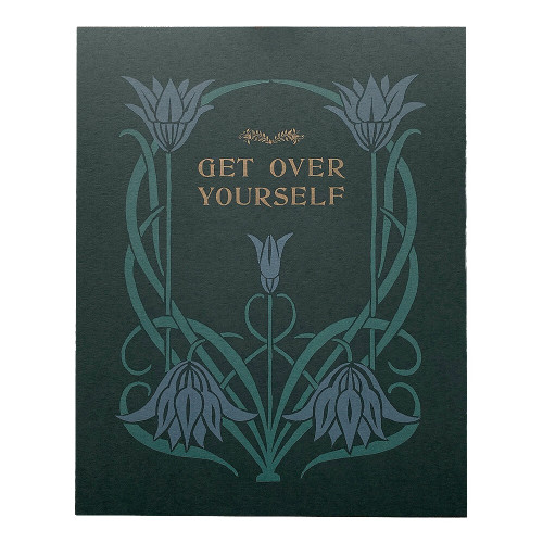 Get Over Yourself Biblio 8x10 Print