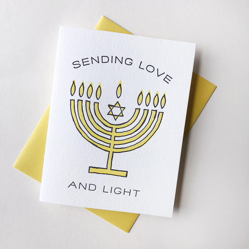 Menorah Love Light Card