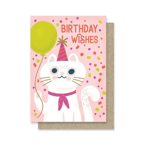 Birthday Wishes Cat Mini Card