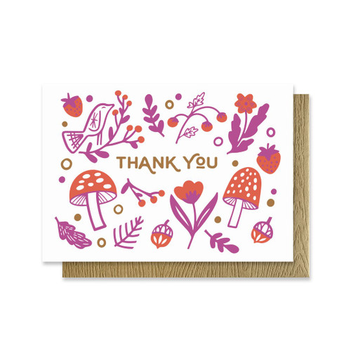 Folksy Thank You Mini Card