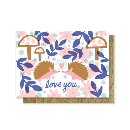 Love you Hedgehog Mini Card