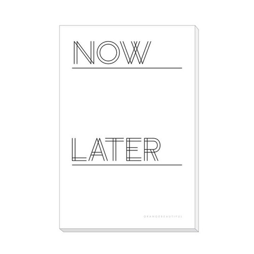 Now + Later Notepad