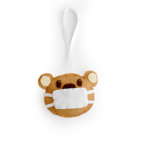 Face Mask Bear Ornament